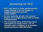 screening for hcc