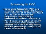 screening for hcc1