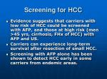 screening for hcc6