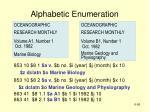 alphabetic enumeration56