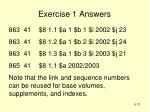 exercise 1 answers