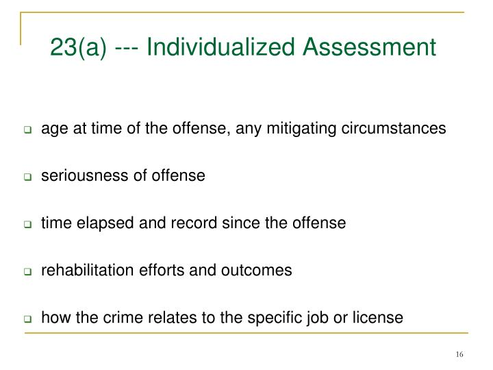 23(a) --- Individualized Assessment