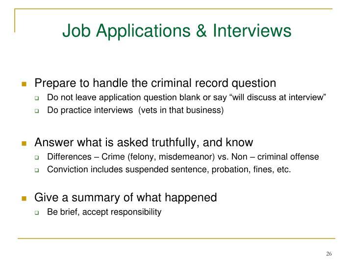 Job Applications & Interviews