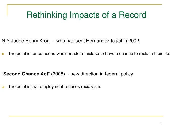 Rethinking Impacts of a Record
