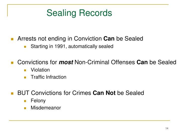 Sealing Records