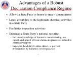 advantages of a robust declaration compliance regime
