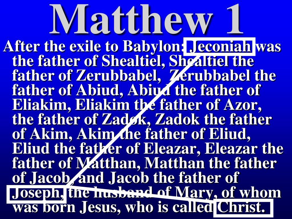 Matthew 1