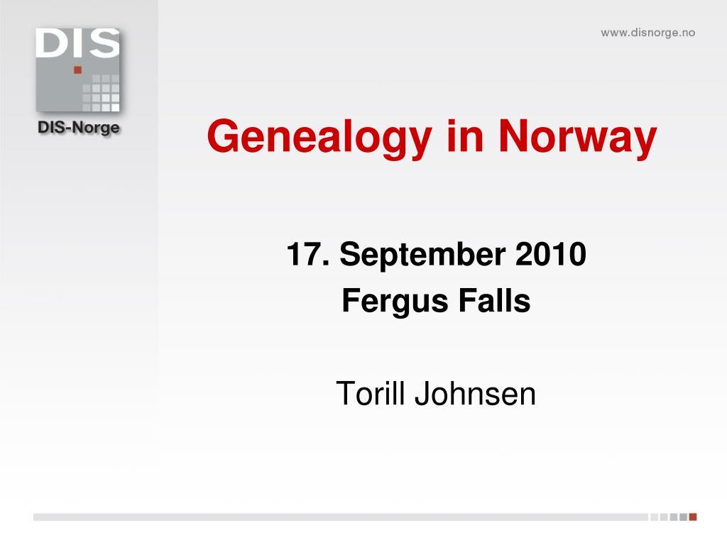 genealogy in norway l.