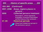 930 history of specific areas 93037