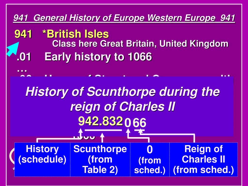 941  General History of Europe Western Europe  941