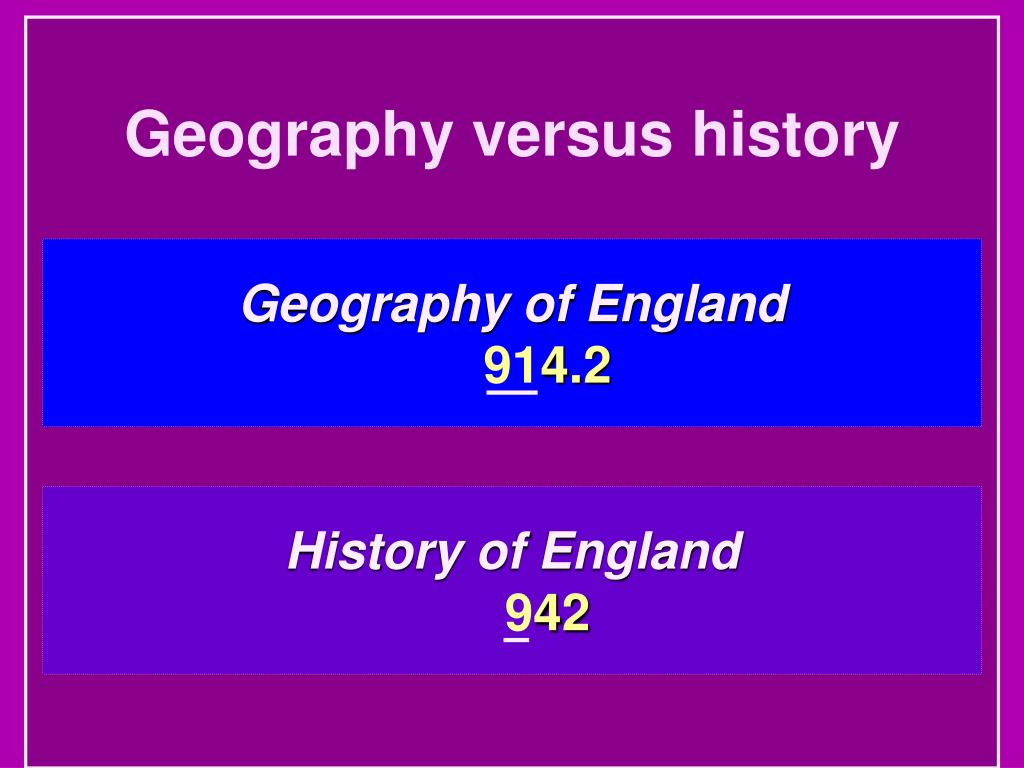 Geography versus history