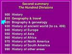 second summary the hundred divisions11