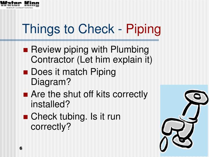 Things to Check -