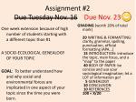 assignment 2 due tuesday nov 16 due nov 23