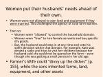 women put their husbands needs ahead of their own