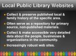 local public library websites