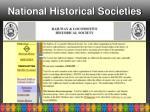 national historical societies