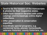 state historical soc websites