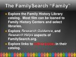the familysearch family