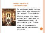 parroquia comunidad de comunidades y grupos