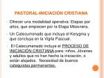 pastoral iniciaci n cristiana