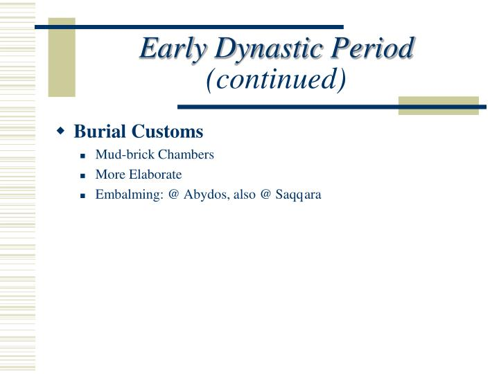 Early Dynastic Period