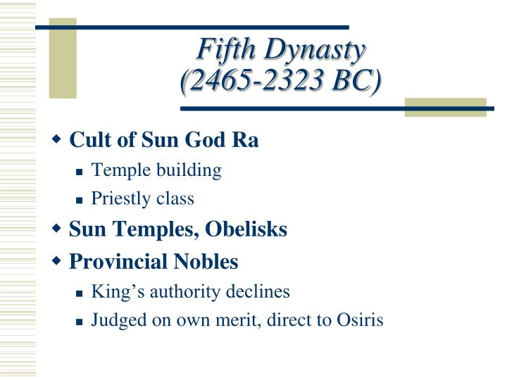 Fifth Dynasty