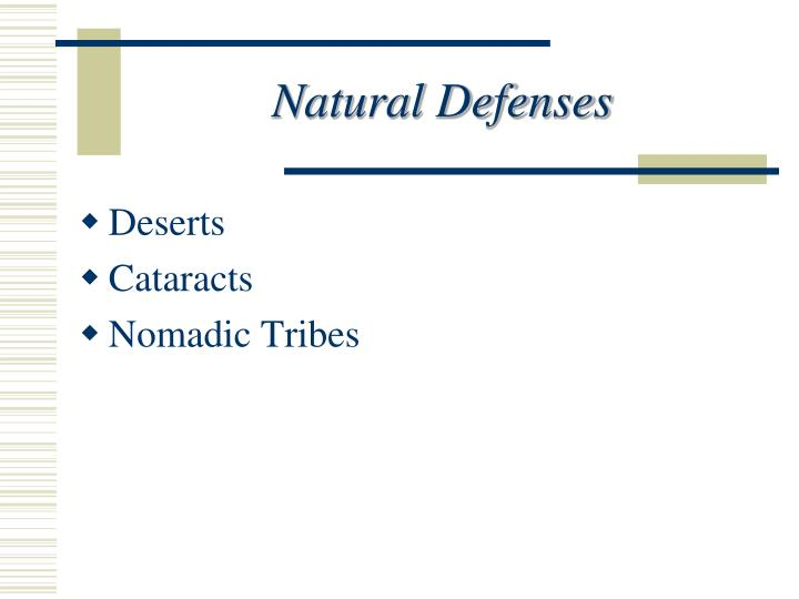 Natural Defenses
