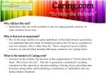 caring com to help the helpers