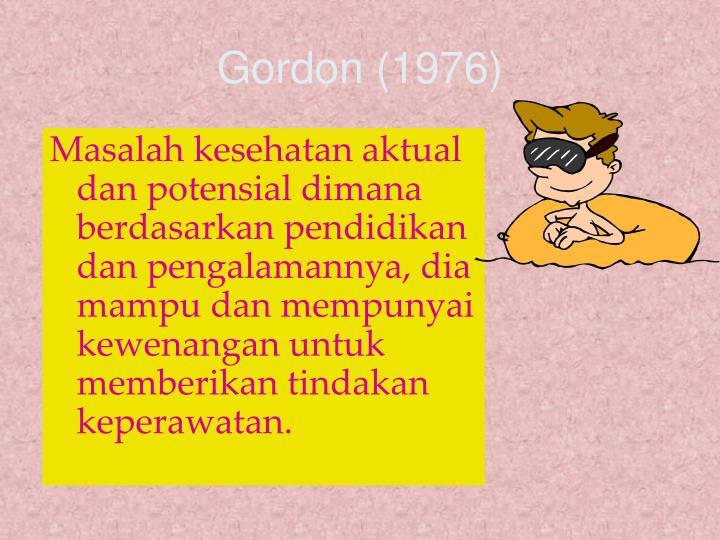 Gordon 1976