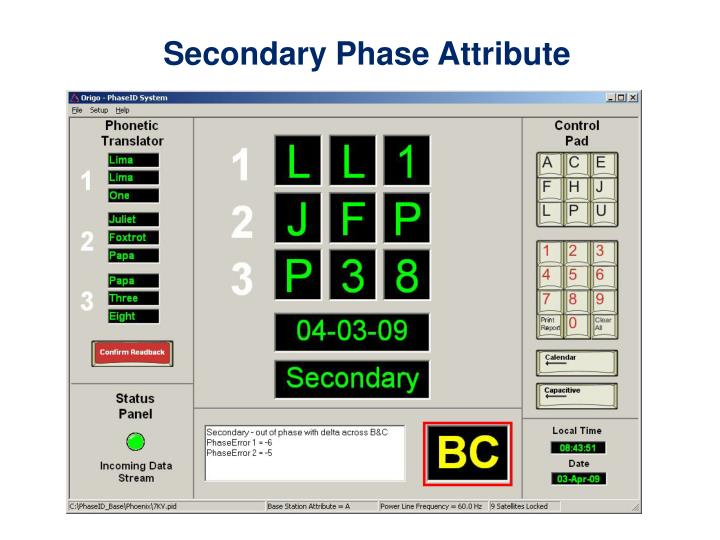 Secondary Phase Attribute