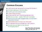 common excuses