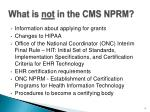 what is not in the cms nprm