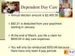 dependent day care15