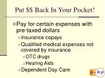 put back in your pocket