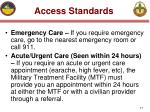 access standards17