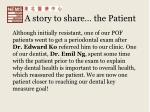 a story to share the patient