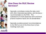 how does the ruc review services17