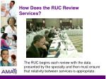 how does the ruc review services18