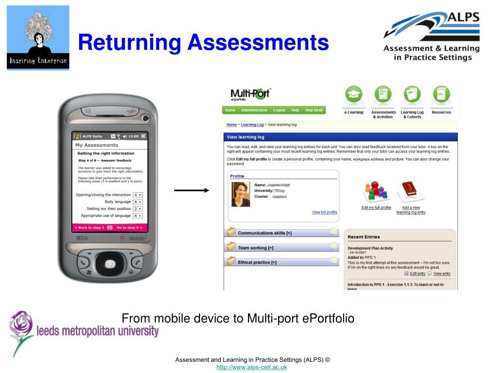 Returning Assessments