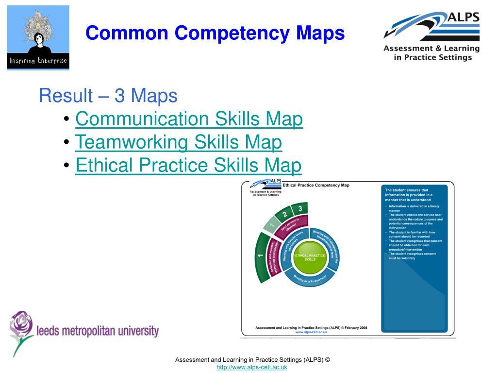 Common Competency Maps