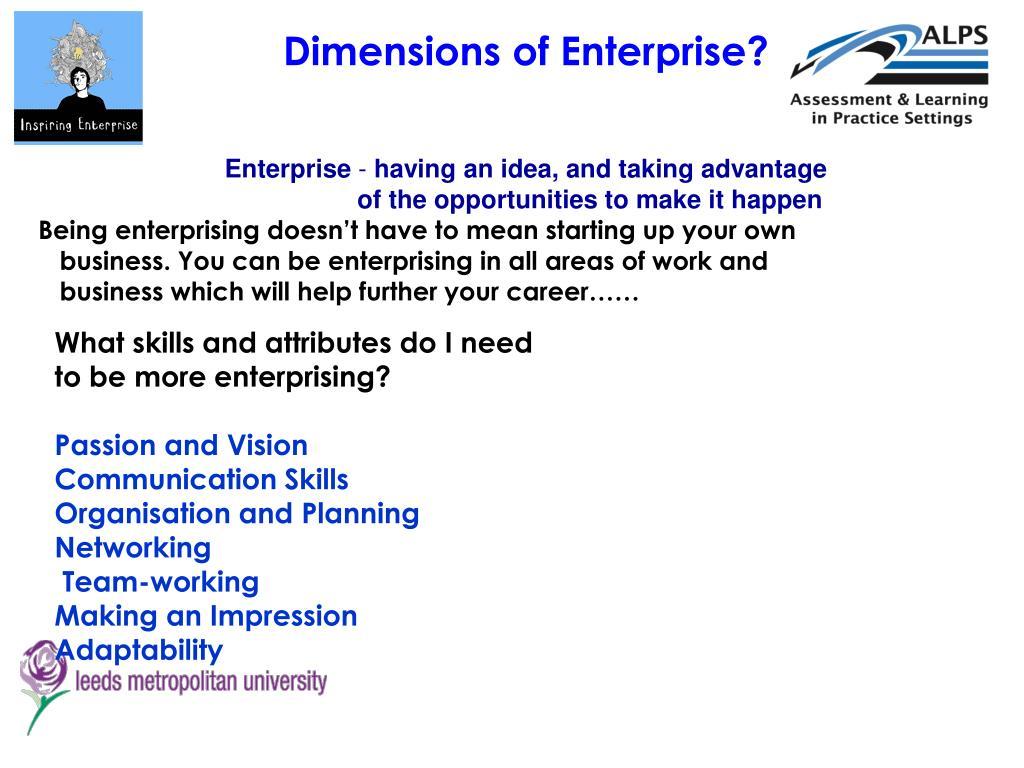 Dimensions of Enterprise?