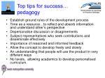 top tips for success pedagogy