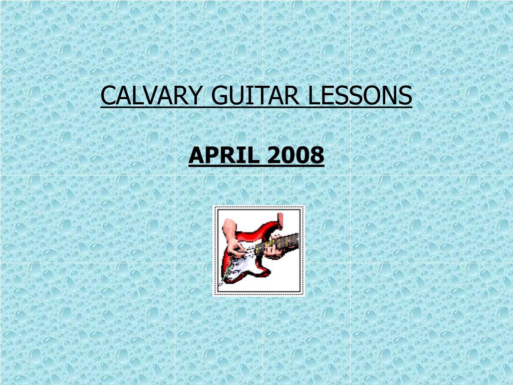 CALVARY GUITAR LESSONS