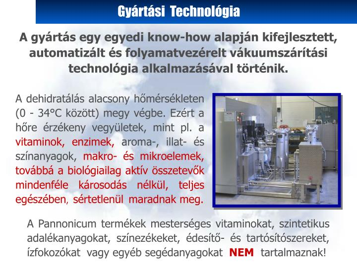 Gyártási  Technológia