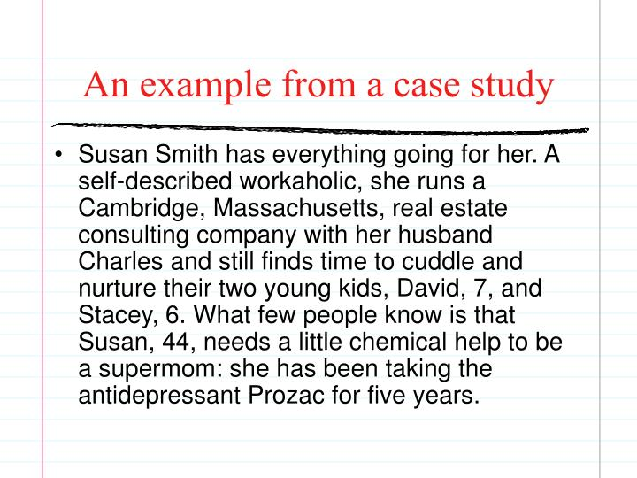 An example from a case study