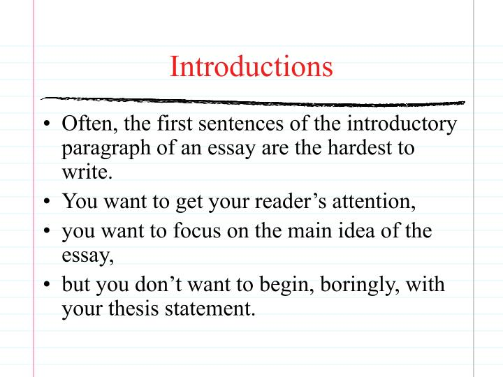 Introductions