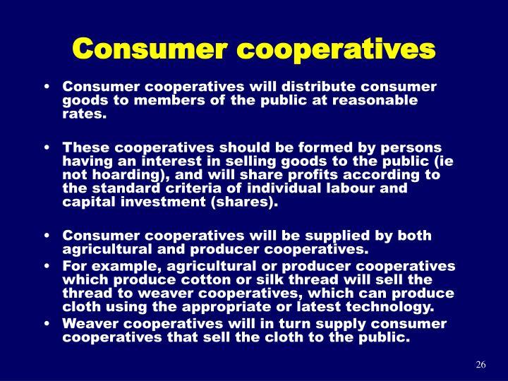 Consumer cooperatives