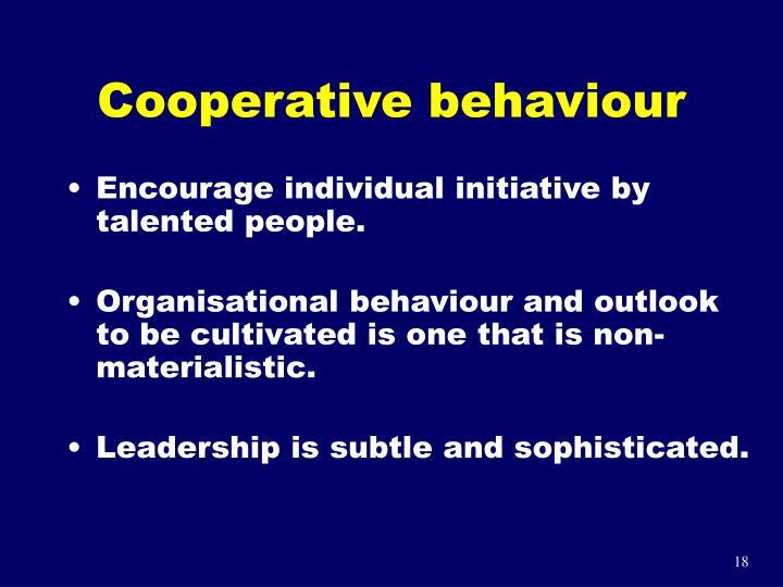 Cooperative behaviour