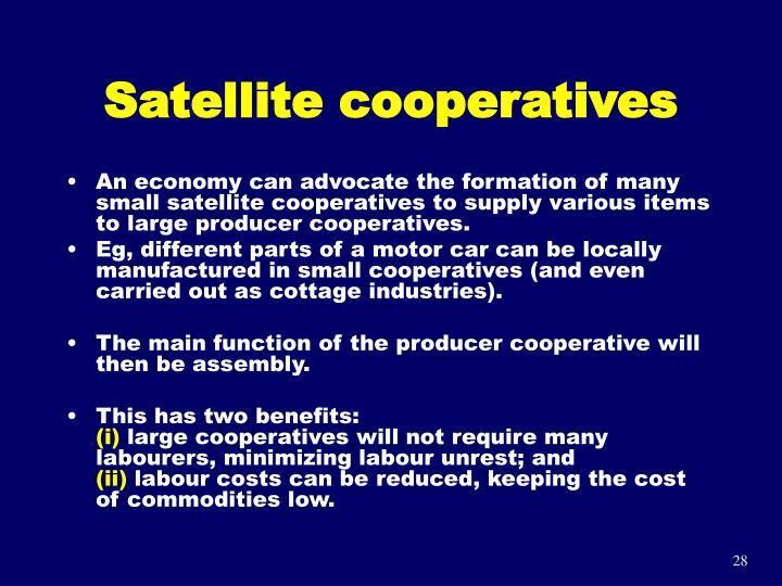 Satellite cooperatives